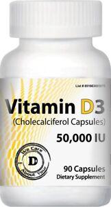 Vitamin D3 50000 IU | 90 VCaps | Exp. 08/2023- FREE SHIPPING