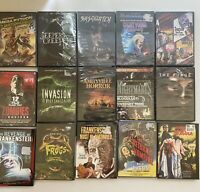 Bundle Lot Of 15 New Sealed DVD Movies Horror Thriller Scary Halloween Old Newer