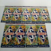 Lot of 9 Vintage SKELLY Oil Company Road Maps