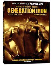 NEW DVD - GENERATION IRON - Mickey Rourke, Arnold Schwarzenegger, Lou Ferrigno,