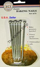 Aluminum Baked Potato Nails Baking Cooking Spud Nail Set of 6 - (Free Shipping)