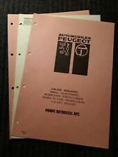 (308MA) Manuel d'atelier PEUGEOT - Calage, Réglages de la Pompe rotodiesel DPC.