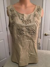 2b RYCH Champagne / Gold Colored Top. Lined. Size 12. NEW.