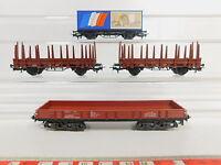 AQ717-1# 4x Märklin H0/AC Güterwagen: Rlmms/398 0 247-4 DB+Frankreich/EWG etc