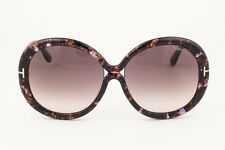 Tom Ford Gisella Brown Marble / Gray Sunglasses TF388 50F