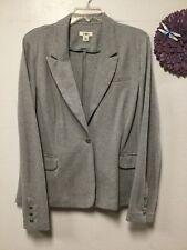 Womens one button dress blazer size XL gray silver glitter new Cato 47