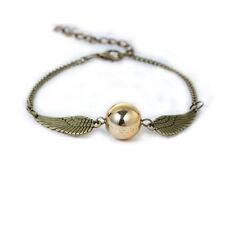 Harry Golden Snitch Bracelet Double Wings Charm Bracelet