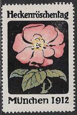 Germany Cinderella: Heckenröschen Tag / Hedges Rose Day, 1912, Munich - cw55.15
