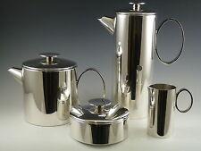 Christofle silver plate-mercury motif-lino sabattini 4 piece tea set