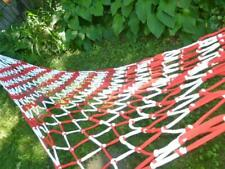 Knotted Rope Cotton Tee Shirt Style Fabric Red & White Hammock