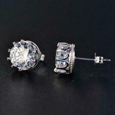 1/4 Ct Black Diamond 14k White Gold Over Stud Earrings