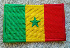 SENEGAL FLAG PATCH Embroidered Badge Iron Sew on 4.5cm x 6cm le Sénégal Africa