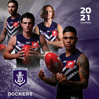 2021 Fremantle Dockers 12 Months Wall Calendar Official AFL Paper Pocket