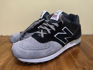 NEW BALANCE 576 M576PKG MADE IN ENGLAND Black Grey Sneakers Shoes Size 9 Men's