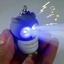 3D Creative Owl Light Up Led Torch & Sound Keyrings Key Chain Keychain Toys