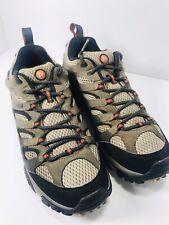 🔥 Merrell Moab Hiking Shoes Dark Brown Waterproof J88621 Vibram • Men's Sz 9