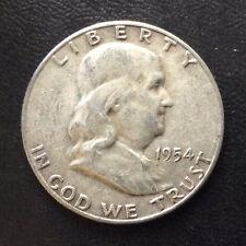 1954-S Franklin Half Dollar Silver U.S. Coin A4715
