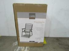 New listing Living Accents Winston Folding Mesh Wrought Iron Chair Set Of 4