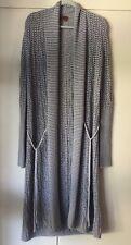 Missoni Long Grey Striped Knit Cardigan Sweater - Size 40