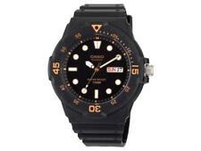 Casio Men's Quartz Day/Date Luminous Black Resin Strap Watch Mrw200H-1Ev