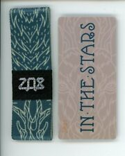 Medium ZOX Silver Strap IN THE STARS Wristband with Card Reversible
