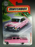 MATCHBOX 2019 MBX ROAD TRIP 15/20 Pink '55 CADILLAC FLEETWOOD ~ AWESOME DETAILS!