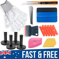 Wrapping 3M Squeegee Razor Tool Cutter Gloves 4 Magnets Car Wrap Vinyl Kit Tools