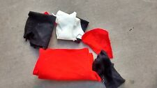 Various Size Lot of Red, Black & White Felt Fabric