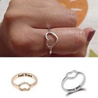 Fashion Women Love Heart Best Friend Ring Promise Jewelry Friendship Rings Gift