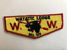 Watatic Lodge 319 OA S2 flap patch Order of the Arrow Boy Scouts mint