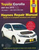 Haynes Workshop Manual Toyota Corolla 2007-2015 1.8L Petrol ZRE-152R 182R Repair