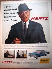 1959 HERTZ  Rent A Car Chairman of Board Ad