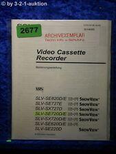 Sony Bedienungsanleitung SLVSE220D /SE820D /SE720D /SX720D /SE620 /E (#2677)