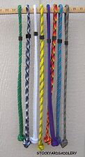 LOT OF 8 LONG ROPE BUCKET HANGER ASSORTED COLORS NEW HORSE TACK STABLE SUPPLY