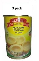 Cefalu Artichoke Bottoms Pack of 3 (14 Ounce Cans) Product of Spain