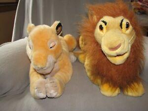 THE LION KING STUFFED PLUSH DISNEY STORE SIMBA & SARABI / NALA PUPPET BIG LARGE
