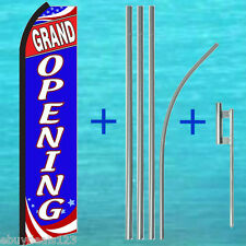 Grand Opening Swooper Flag + 15' Tall Pole + Mount Flutter Feather Banner Sign