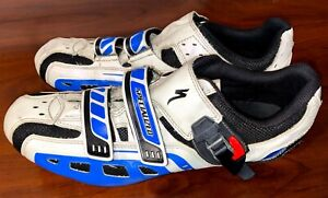 Specialized Comp Road Cycling Shoes Mens Size 13US 47EUR Blue and White