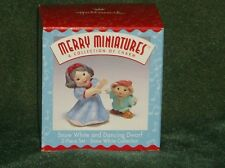 Hallmark Merry Miniature 1997 Snow White and Dancing Dwarf - NEW
