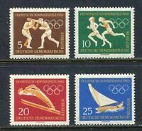 31324) DDR 1960 MNH Olympic Games 4v. Scott #488/91