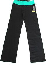 Kirkland Ladies Active Yoga Pants UK 8 XS Black & Green Jogging Bottoms - BNWT