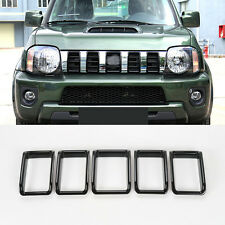 ABS Front Grill Grille Grid Insert Cover Trim 5pcs For Suzuki Jimny 2012-2015