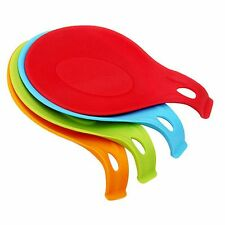 Silicone Heat Resistant Spoon Fork Mat Kitchen Tool Utensil Spatula Holder
