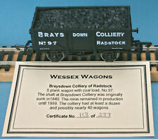 Dapol Brays Down Colliery, Radstock, 5-plank Mineral Wagon Nº 97 - LE of 237
