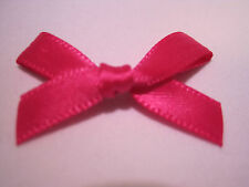 7mm Satin Ribbon Bows - 20 Colours BUY 2 PACKS GET 1 FREE 50 100 or Mixed 200