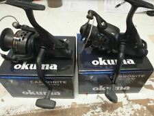 2017 Okuma Carbonite 55XP BF Free Spin Carp Reel Line /& Spare Spool RRP £35