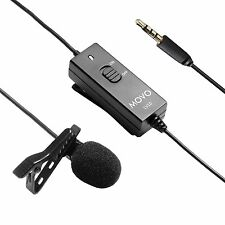 Movo LV10 Lavalier Clip-on Omnidirectional Microphone for Camera & Smartphone