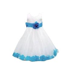 REDUCED TO CLEAR  Formal Bridesmaid Princess Petals Dress