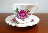 Elizabethan Fine Bone China Taylor & Kent England Teacup Saucer Set Rose