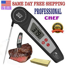Meat Thermometer PROFESSIONAL CHEF Digital  BBQ Grilling Fast Read Food Liquids